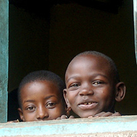 young boys from Tanzania smiling